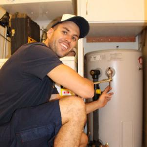Jack, one of our Ashburn plumbers started fixing a water heater uni